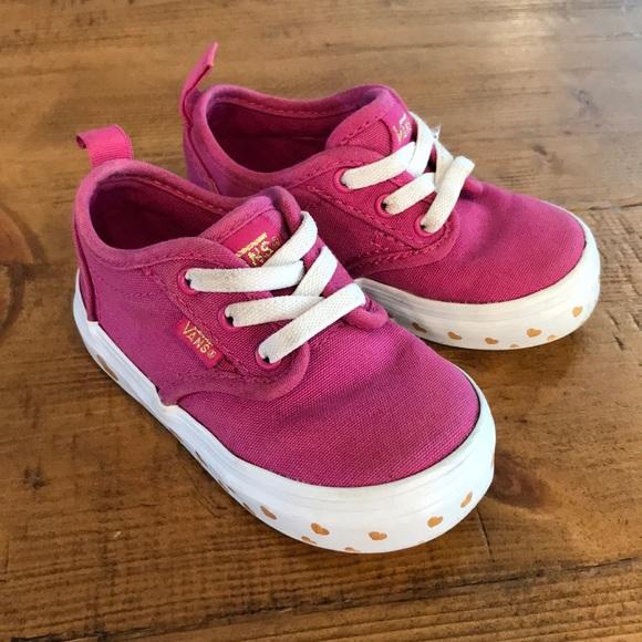 2032862e09 Vans Atwood toddler slip-on sneaker fuchsia pink. M 5b6f2fe9aa877029fac41441